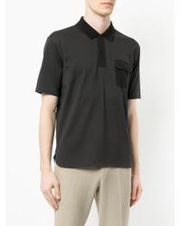 CK Calvin Klein - Gray Pocket Detail Polo Shirt for Men - Lyst