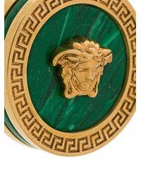 Versace - Metallic Malachite Medusa Earrings - Lyst