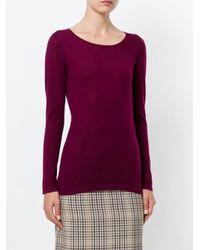 N.Peal Cashmere - Purple Superfine Round Neck Sweater - Lyst