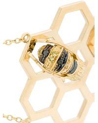 Delfina Delettrez - Metallic 18kt Yellow Gold To Bee Or Not To Be Bracelet - Lyst