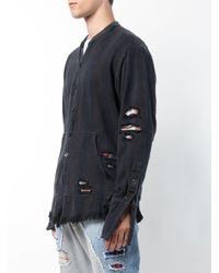 Greg Lauren - Black Distressed Shirt for Men - Lyst