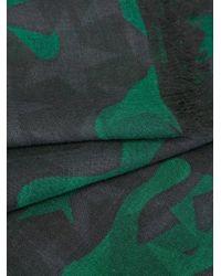 Valentino - Green Garavani 'camustars' Scarf for Men - Lyst