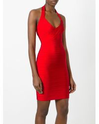 Hervé Léger Red Adrienne Dress