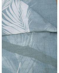 Yigal Azrouël Blue Peony Printed Scarf