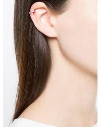 Anita Ko - Metallic Hoop Earring - Lyst