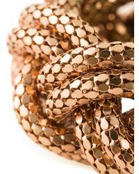 Lara Bohinc - Metallic Large Plait Bangle - Lyst