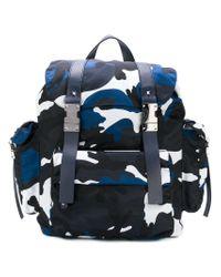Valentino - Blue Garavani Rockstud Camouflage Backpack for Men - Lyst