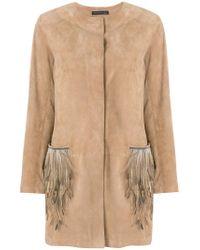 Fabiana Filippi - Natural Feather Embellished Coat - Lyst