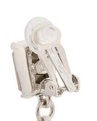 Oscar de la Renta - White Corded Tassel Earrings - Lyst