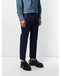 DSquared² - Blue Zip Embellished Trousers for Men - Lyst