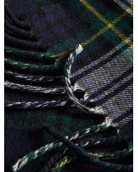 Burberry - Blue Check Scarf - Lyst