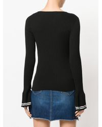 Philosophy Di Lorenzo Serafini - Black Ribbed Pleated Cuff Sweater - Lyst