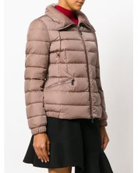 Moncler - Brown Spread Collar Padded Jacket - Lyst