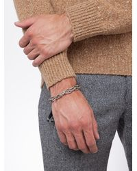 M. Cohen - Metallic Frosted Onyx Stone Bracelet for Men - Lyst