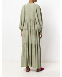 Erika Cavallini Semi Couture - Green Pleated Maxi Dress - Lyst