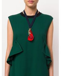 Marni - Blue Abstract Pendant Necklace - Lyst