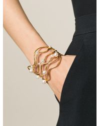 Aurelie Bidermann - Metallic 'cheyne Walk' Cuff - Lyst