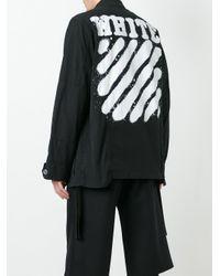 Off-White c/o Virgil Abloh - Black Diagonal Stripes Cargo Jacket for Men - Lyst
