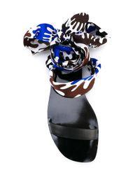 Emilio Pucci - Blue Textile Wrap Sandals - Lyst