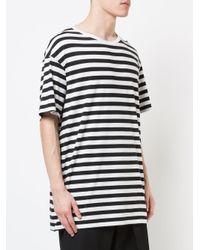 Yohji Yamamoto - Hwt14270 Black White Viscose/cotton for Men - Lyst
