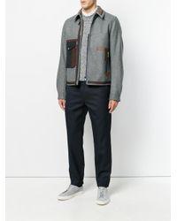 Kolor - Gray Fitted Flap Pocket Jacket for Men - Lyst