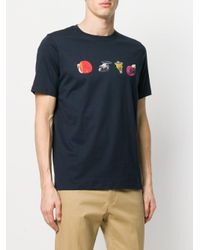 PS by Paul Smith Black Logo Print T-shirt for men