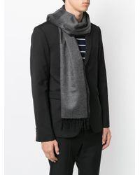 Ferragamo - Gray Bi-colour Scarf for Men - Lyst