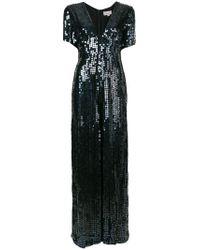 Temperley London - Black Heart Sequin Plunge Jumpsuit - Lyst