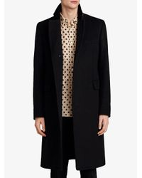 Burberry - Black Velvet Collar Riding Coat for Men - Lyst