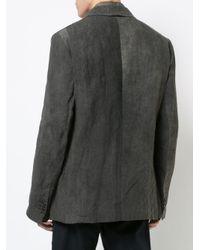 Uma Wang Gray Washed Effect Blazer for men