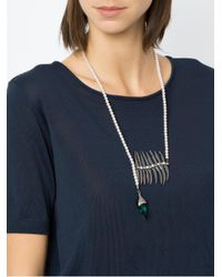 Camila Klein - Metallic Pearl Embellished Necklace - Lyst