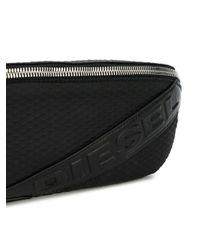 DIESEL - Black Belt Bag for Men - Lyst