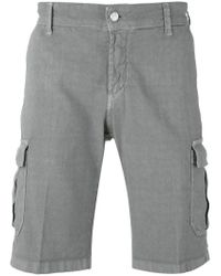 Entre Amis | Gray Cargo Shorts for Men | Lyst