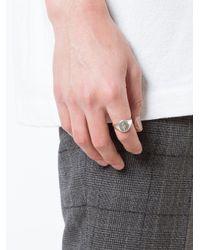 Henson - Metallic Lion Crest Signet Ring for Men - Lyst