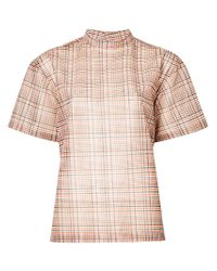 Toga Pulla - Pink Checked Blouse - Lyst