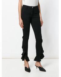 Giamba - Black Side Ruffle Jeans - Lyst