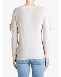 Burberry - White Ruffle Detail Top - Lyst