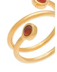 Lizzie Fortunato - Metallic Spiral Ring - Lyst