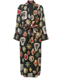 Dolce & Gabbana - Black Sacred Heart Robe Style Coat - Lyst
