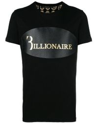 Billionaire - Black Python Logo T-shirt for Men - Lyst