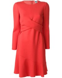 M Missoni - Crossed Panel Flared Dress - Lyst