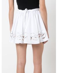 Alexander Wang - White Stitching Detailed Skirt - Lyst