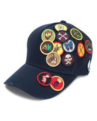 DSquared² - Blue Patched Baseball Cap for Men - Lyst