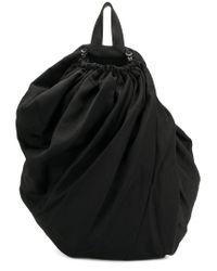 Lyst - Yohji Yamamoto Drawstring Draped Backpack in Black for Men adff844133