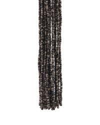 Oscar de la Renta - Black Long Bead Tassel Earrings - Lyst