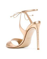 Francesco Russo - Metallic Hill Sandals - Lyst