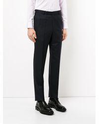 Gieves & Hawkes - Black Pinstripe Skinny Trousers for Men - Lyst