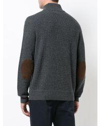 Polo Ralph Lauren - Gray High Neck Button Jumper for Men - Lyst