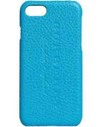 Burberry - Blue Logo Embossed Iphone 7 Case - Lyst