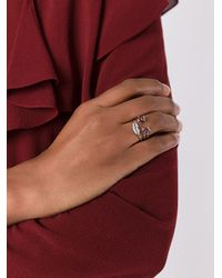 Delfina Delettrez - Metallic Face Detail Embellished Ring - Lyst